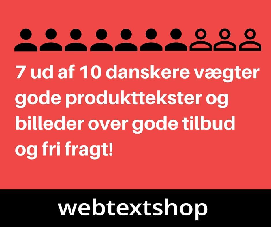 7 ud af 10 danskere vægter gode produkttekster over pris og leveringsomkostninger