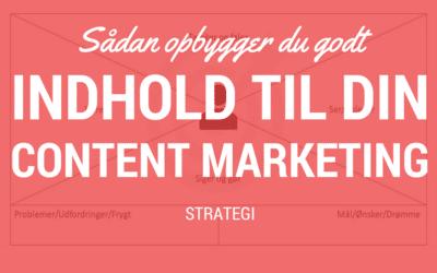 Sådan opbygger du indholdet til din content marketing-strategi